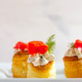 Impressing your guests is as easy as this Smoked Salmon Vol-Au-Vent recipe with herb cream cheese is to make; it's an elegant party appetizer!