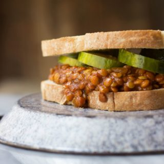Lentil Sloppy Joes + Homemade Pickles