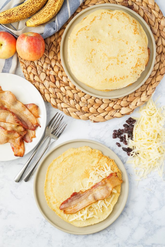 Bring the Netherlands to your breakfast table with this Pannenkoeken recipe. These large, thin Dutch Pancakes are delightful on their own, but once you add the sweet and savory fillings, they are nothing short of magical!