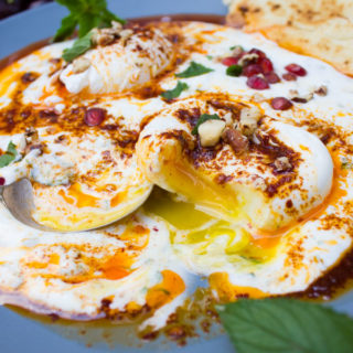 Turkish Poached Eggs Over Yogurt