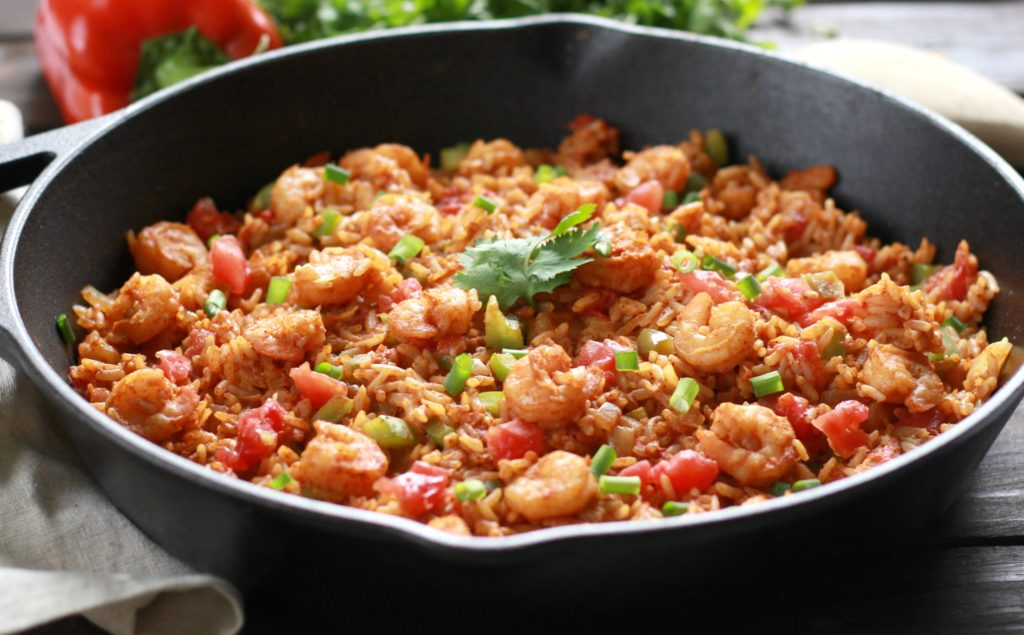 Think you have no time on a busy weeknight for a deliciously satisfying meal and clean up? Think again because this 30-Minute Shrimp Taco Rice Skillet is the answer you've been looking for. All of your favorite flavors in just one pan!