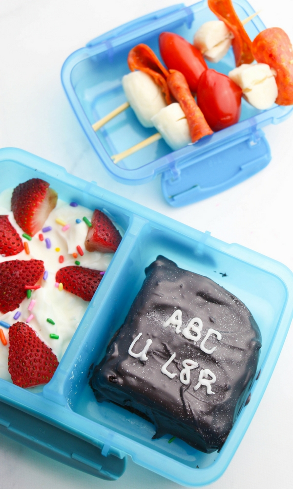Make lunchtime special for the ones you love when you whip up these simple Chalkboard Brownies for their lunch box. Customize them with personal messages that will put a smile on everyone's face!