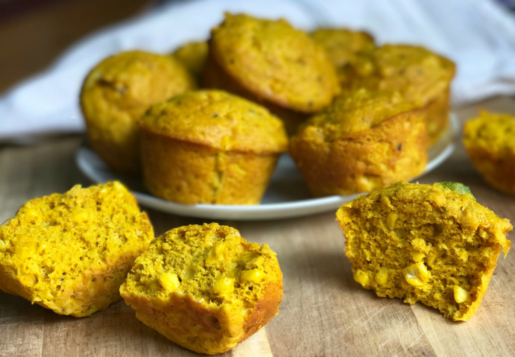 Gluten free Vegan Spicy Pumpkin Cornbread Muffins are a spicy-savory spin on cornbread muffins that satisfy without sacrificing your healthy eating goals.