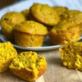 Enjoy seasonal baked goods while sticking with your healthy eating goals. These Vegan GF Pumpkin Cornbread Muffins are a spicy-savory spin on traditional cornbread muffins to give you what you crave without all the guilt.