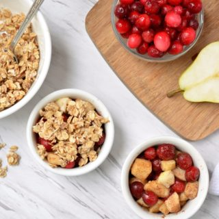 Cranberry Pear Oatmeal Crisp