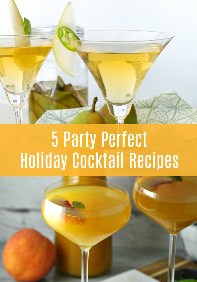 Elevate this year's holiday get-togethers with these five party perfect Holiday Cocktail Recipes made to put your guests in the celebrating spirit!
