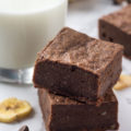 Ripe bananas are the star ingredient in these 6-Ingredient Ripe Banana Brownies. This easy dessert is healthier than classic brownies because these brownies use banana instead of oil!