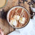 If you've never used tahini for anything other than hummus, you're in for a real treat with this Vegan Tahini Hot Chocolate recipe. Gluten free and dairy free, this is the perfect party drink for the winter holidays!