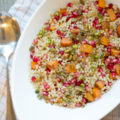 Celebrate your favorite flavors of the season in a healthy way when you whip up this Pomegranate Butternut Squash Coucous topped with a heavenly pistachio crumble. Winter never tasted so good!