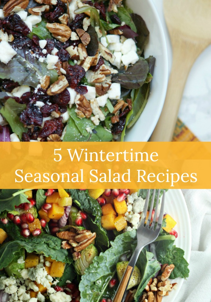 The next time you want a healthy lunch option that feels like you are indulging in a special treat, try these five Wintertime Seasonal Salad Recipes topped with our favorite vinaigrettes.