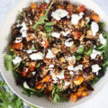 This Beetroot, Squash, and Farro Salad will be your new go-to winter salad recipe! Made with beautiful, clean, and fresh produce, this salad is hearty, healthy, easy to make, and perfect for the chilly season.
