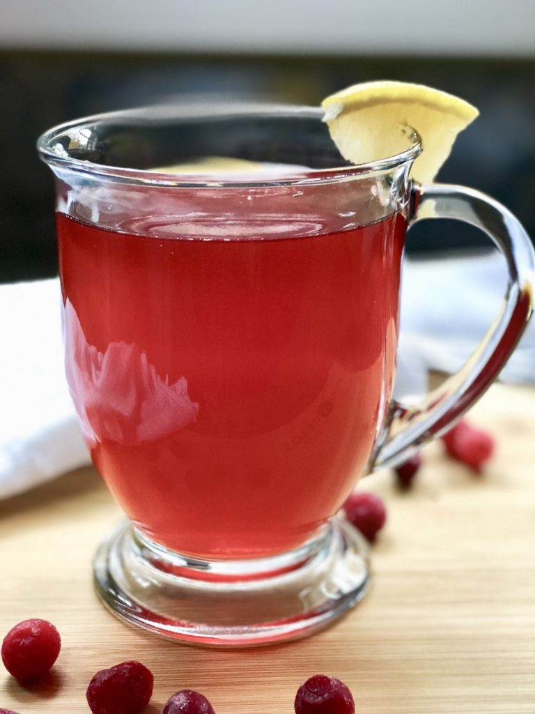 Detox Cranberry Lemon Ginger Tea is simple to make, free of added sugar, and excellent for natural detoxification. It will help eliminate excess water weight, support healthy digestion, and has a great flavor too!