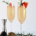 Celebrate life's big moments with a flute of this refreshing Rosemary Citrus Champagne Cocktail. Just five ingredients, including grapefruit and a little bubbly, and you've got a drink fit to rejoice!