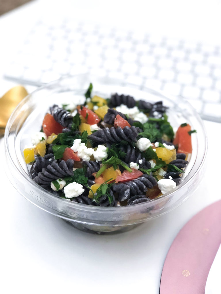 Be the envy of the office when you enjoy this delicious and colorful Black Bean Pasta Salad for lunch! This is a healthy mid-day option that packs a nutritious punch, is simple to make, and it's perfect for weekly meal prep since it can last for days in the fridge!