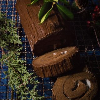 Dark Chocolate Peppermint Yule Log