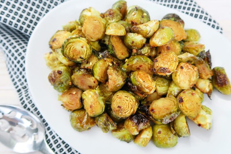 Add a boost of healthy flavor to your weeknight meal with this budget-friendly side dish. Roasted Spicy Honey Brussels Sprouts can liven up any meal with only seven pantry staples and about 30 minutes!