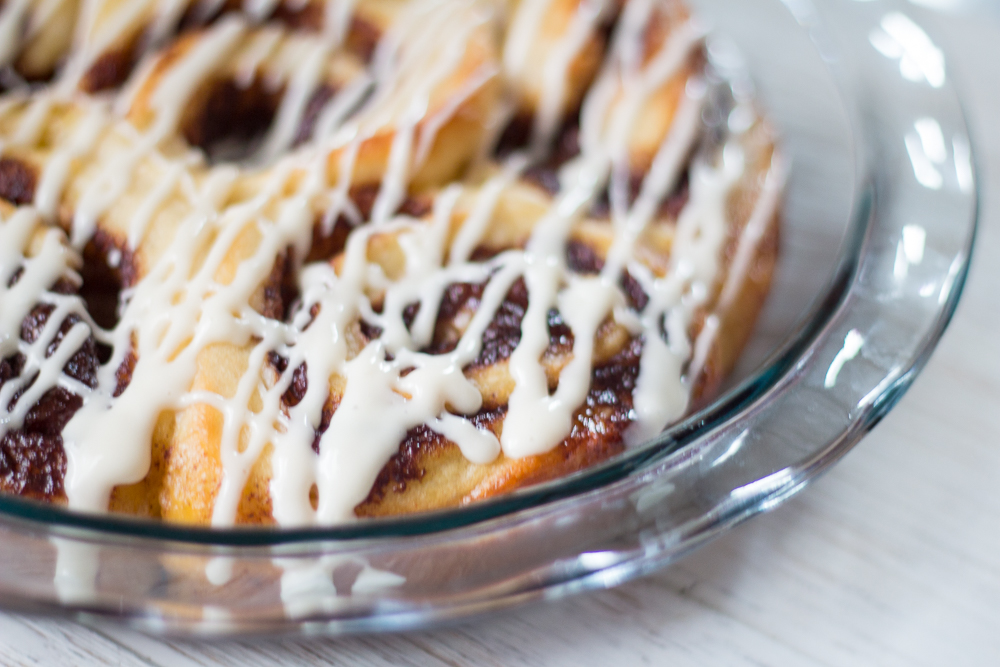 The recipe list for these Homemade Sticky Bun Pinwheels might be daunting, but this cheat day treat only takes 45 minutes to make. Cook to impress your Sunday Brunch guests or prep at night for a make-ahead breakfast the family will love!