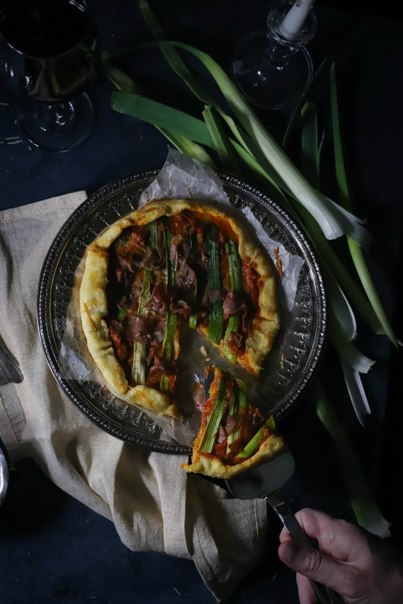Make date night at home extra special with this simple, but gourmet Leek + Prosciutto Galette for Two. Perfect for sharing with the one you love, and ready in about 30 minutes!
