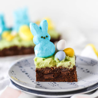 Peep-tastic Easter Brownies