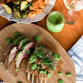 Mint Pesto Rack of Lamb