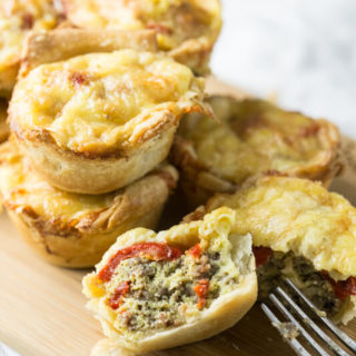 Red Pepper Sausage Mini Quiches