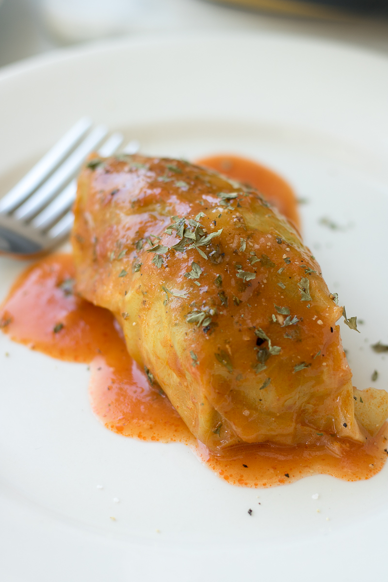 Filled with either lean ground turkey or beef, these Stuffed Cabbage Rolls are served with a tomato sauce and are sure to impress a dinner crowd. This simple weeknight meal is popular in Eastern Europe, the Mediterranean, and parts of Asia. This classic comfort food is a hit every time!