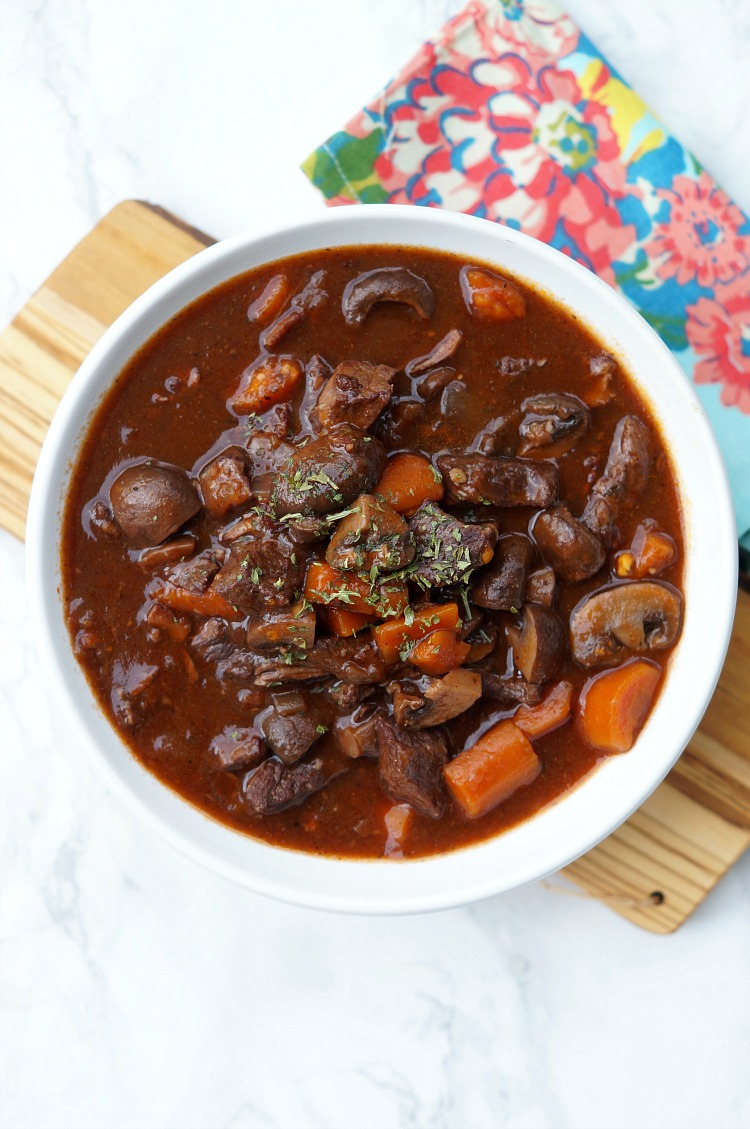 Dinner guests will be astounded when they find out this magnificent Instant Pot Beef Bourguignon recipe took less than an hour to make! A modern take on a Julia Child classic, this is one extraordinary dish.