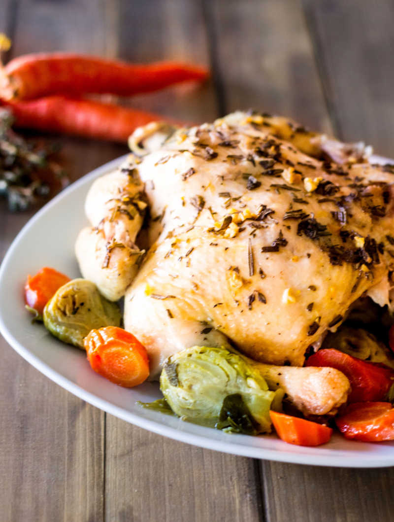 This easy Instant Pot Whole Roasted Chicken recipe combines the best of both worlds. Make this 30-minute meal as a weeknight dinner, then use the leftovers in your weekly meal prep. Save time and money with this budget-friendly meal!