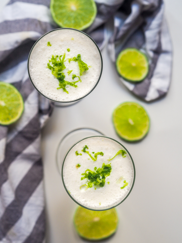Super light and refreshing, this Boozy Coconut Limeade is a 5-ingredient, rum-based summer cocktail that's perfect for outdoor entertaining. You just need coconut milk, lime juice, honey, rum, and ice.