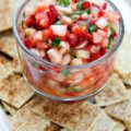 This Fruit Salsa with Cinnamon Chips is the perfect spicy-sweet appetizer for summer entertaining. Your fresh farmers market produce transforms into this simple party appetizer in just 25 minutes.
