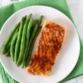 With just four kitchen staples, two salmon fillets, and 15 minutes, you can have this Caramelized Mustard Salmon on the dinner table for a busy weeknight meal. This easy dinner recipe is perfect when you're cooking for two!