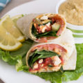 Why waste money at your favorite sandwich shop when you can make this Mediterranean-inspired Cilantro Jalapeño Hummus Wrap at home. This cheap healthy meal is a 10-minute lunch or dinner with fresh veggies and hummus.