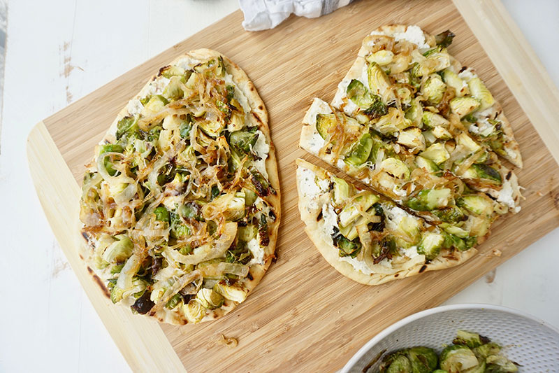 If you aren't enjoying some grilled pizza right now, are you even living? This Roasted Brussels Sprouts Grilled Pizza with Lemon Herb Ricotta is a farmers market delight that's ready in about 30 minutes.