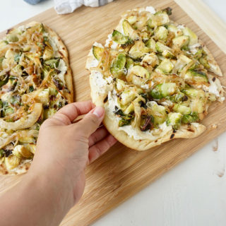 Roasted Brussels Sprouts Grilled Pizza