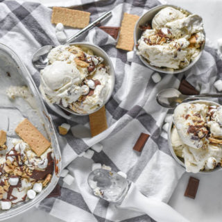 When you think summer dessert, you naturally think ice cream or s'mores. Get the best of both worlds with this simple classic dessert recipe for No-Churn S'mores Ice Cream. Perfect for outdoor entertaining and no campfire required!