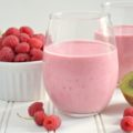 A nutrient-rich breakfast, this Raspberry Kiwi Smoothie recipe uses fresh fruit, Greek yogurt, almond milk, honey, and rolled oats for the perfect 5-minute on-the-go breakfast. It's so pretty, you can serve it for Sunday brunch too!