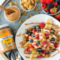 A sundae for breakfast? With just six ingredients, this Almond Butter Breakfast Banana Split is full of good-for-you ingredients. It's an easy healthy breakfast that's much like a smoothie bowl, but better!