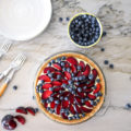Who can resist this farmers market fresh Plum Blueberry Tart recipe? A no-bake dessert that takes very little hands-on prep time and delivers a sweet treat to impress party guests. An easy dessert recipe everyone will love no matter the occasion.