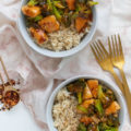 These takeout-inspired spicy Firecracker Chicken Bowls are a cheap healthy meal that's perfect for a date night dinner or weeknight meal. A budget-friendly, restaurant-quality, 30-minute meal.