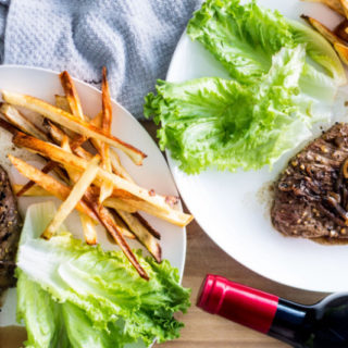 Steak Frites Dinner for 2 {Steak + Fries}