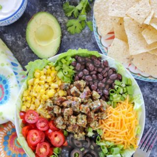 Protein-Packed Vegetarian Taco Salad