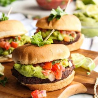 Guacamole Veggie Burger Sliders
