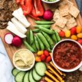 Whether you're hosting a tailgating party or happy hour at home, this simple Instagram-Worthy Crudité Platter is sure to impress. An easy and affordable appetizer perfect for all of your entertaining needs.