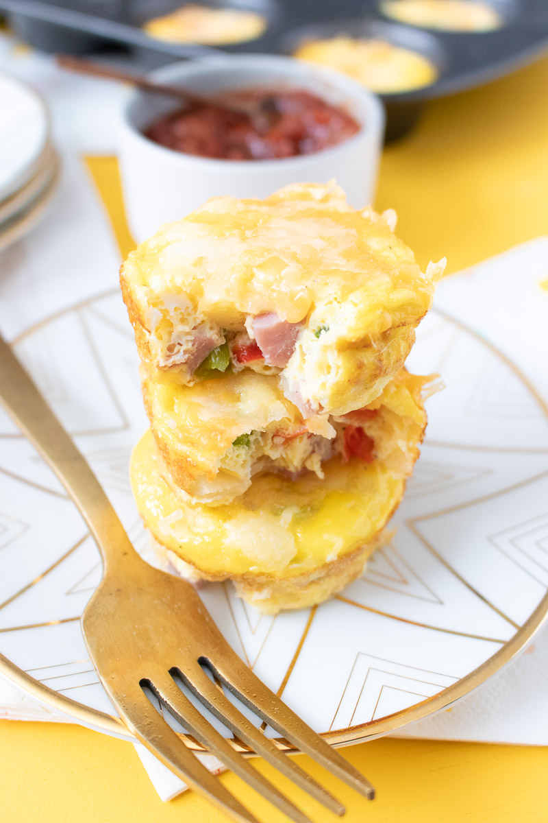 These easy Make-Ahead Denver Omelet Cups are perfect for a weekday morning or Sunday brunch. Meal prep these small bites on the weekend and enjoy a hearty breakfast all week long.