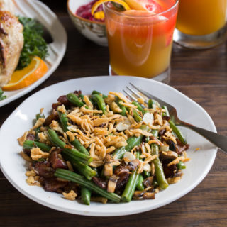 Bacon Mushroom Green Bean Salad