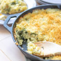 This homestyle Baked Spinach Mac N Cheese is a healthier twist on a classic side dish. Perfect for office potlucks and holiday entertaining, this portable side dish is as simple as it is delicious!