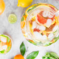 Stay hydrated with this 5-minute detox drink, Citrus Mint Detox Water. This spa water combo helps flush toxins from your body and gives you a nice kickstart to your day. It aids digestion and boosts energy!