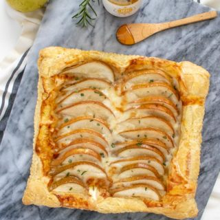 Sweet + Savory Pear Goat Cheese Tart