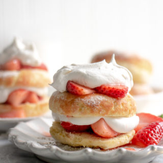 Keto Strawberry Shortcake Donuts