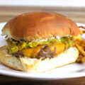 One of the most iconic dishes in New Mexico is the Green Chile Cheeseburger. This food truck style burger is piled high with diced green chiles, giving you a New Mexico inspired cheeseburger that delivers an unforgettable balance of savory and spice.